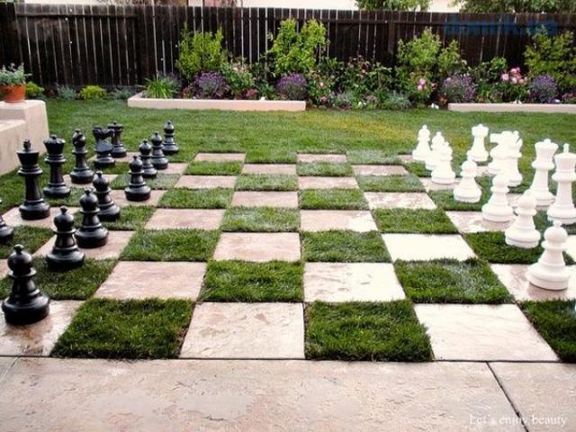 Convierte tu pequeño jardín en un tablero de juegos